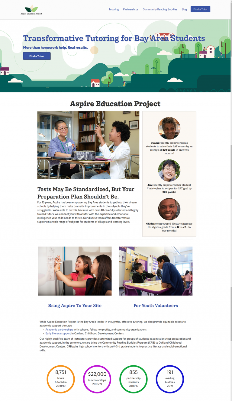 Aspire Education home page